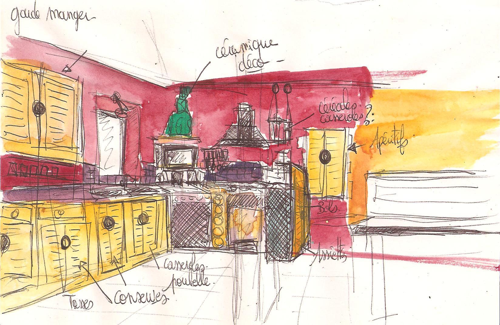 projet de décors de cuisine Noémie Abgrall