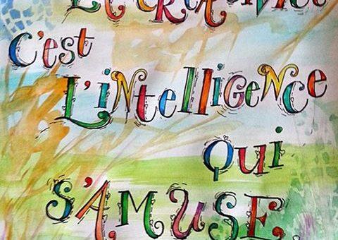 la créativité c'est l'intelligence qui s'amuse