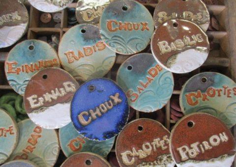 décors de jardin étiquettes