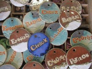 Etiquettes de jardin en grès