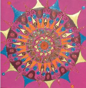 Mandalas sur toile