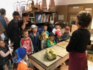 Atelier poterie à l'école + visite de l'atelier